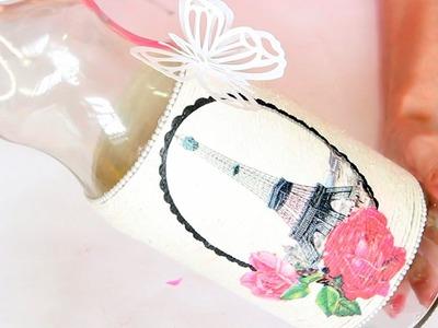 Reciclagem de Garrafa de Vidro com Barbante - Do Lixo ao Luxo