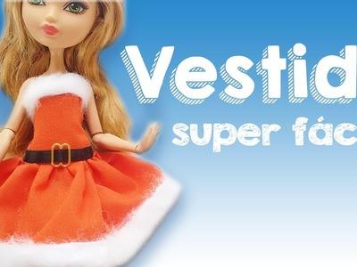 Vestido de Natal | Como Fazer Roupa de Natal para Barbie, Mh, EAH e outras bonecas