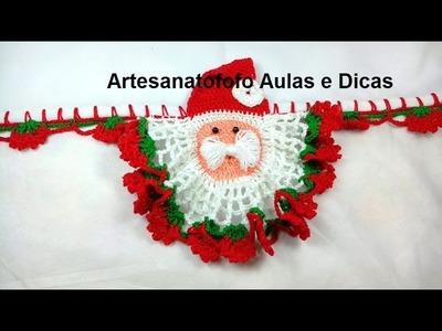 Bico em crochê Papai Noel  - PARTE 1 - CROCHÊ 68   - PASSO A PASSO