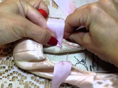 Como costurar as fitas e os elásticos das sapatilhas de pontas