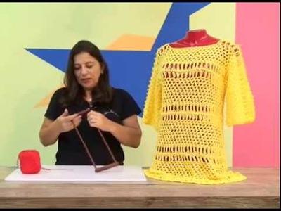 Cristina Amaduro - Blusa verão em crochê de grampo