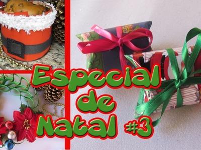DIY NATAL | DECORAÇÃO DE NATAL COM ROLOS DE PAPEL HIGIÊNICO - Presentinhos, guirlanda e panetone #3
