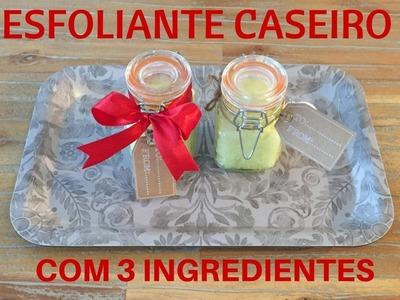 Esfoliaste Caseiro 3 ingredientes - Dicas de lembranças de Natal | Vídeo colaborativo