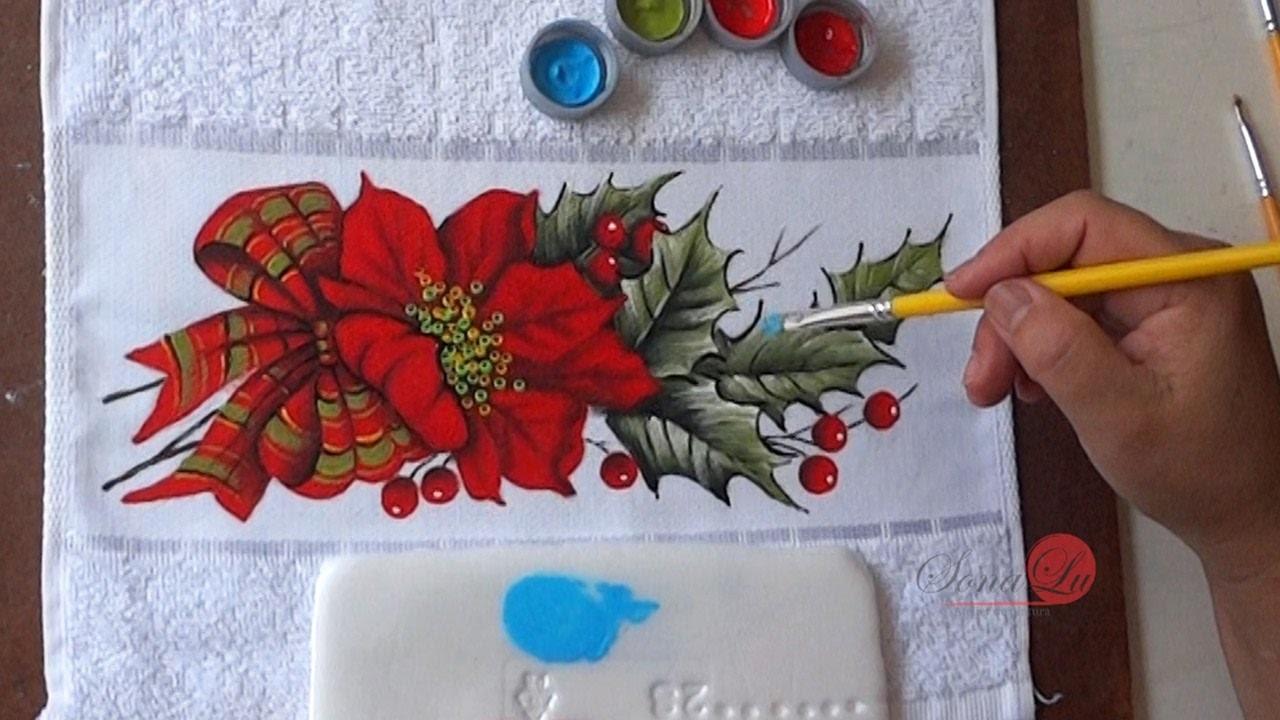 Flor de Natal em Tecido (Aula 96)
