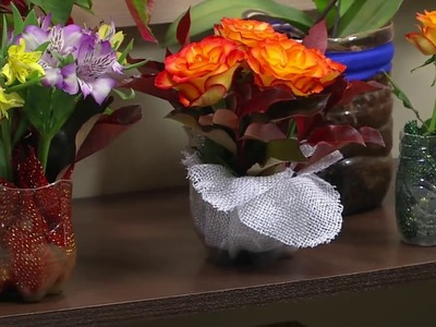 Mulher.com - 19.12.2016 - Vaso com material reciclável por Alessandra Palante