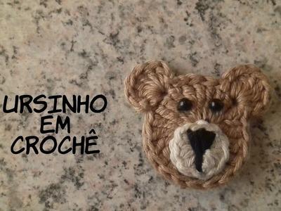 Ursinho em crochê para aplicação