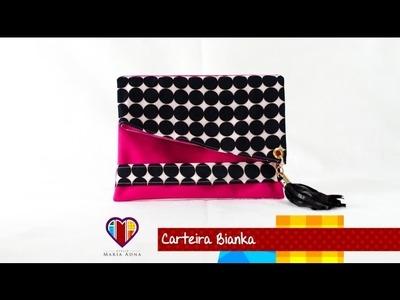 Carteira de tecido Bianka - Maria Adna Ateliê - Cursos e aulas de bolsas e carteiras passo a passo