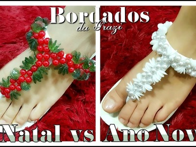 Chinelo decorado - NATAL vs ANO NOVO