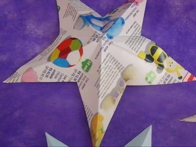 Como Recortar Estrelas à Mão Livre - #3