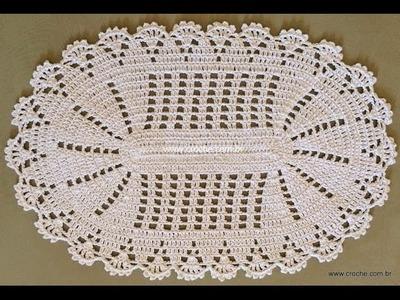 Croche tapete oval completo