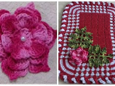 Flor de Crochê Para Aplicação em Tapetes e Diversos Trabalhos. Cristina Coelho Alves