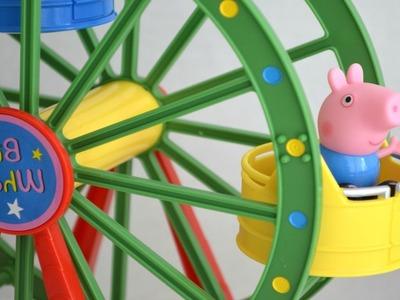 Pig George da Familia Peppa na Roda Gigante e Salvo pelo Helicóptero do Bombeiro!!! Em Portugues