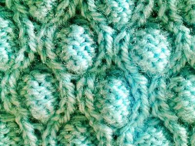 Ponto Bolha em tricô - Tricotando Crochê