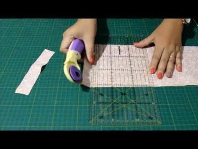 Série Blocos em Patchwork - Como usar placa de corte, régua e cortador circular