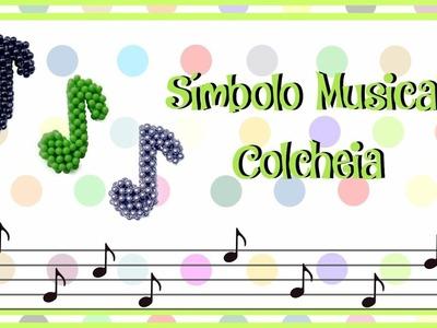 Símbolo musical Colcheia de Pérolas - Tutorial Passo a Passo