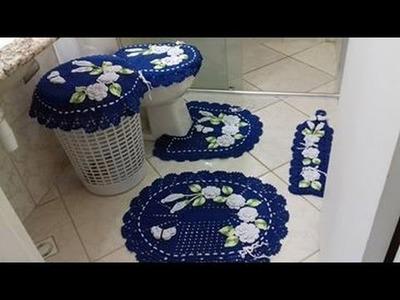 Vamos aprender a fazer a TAPETE DO VASO que acompanha o jogo de banheiro  com Cristina Coelho alves
