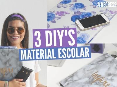 3 DIY's Material Escolar ❤️ Dossiers e Estojo #regressoàsaulas