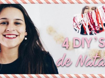 4 DIY'S DE NATAL P.O TEU QUARTO ♥ Ep.1 #EspecialNatal | Adriana & Ilda