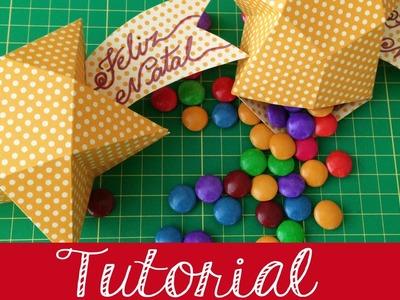 Como fazer | Embalagem estrela de natal | Tutorial | PAP