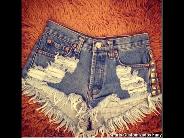 Como fazer shorts customizado destroyed