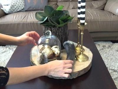 Decorando a mesa de centro pro outono- rústico