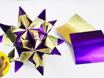 Estrela 3D com 30 pedaços de papel | Decoração de natal