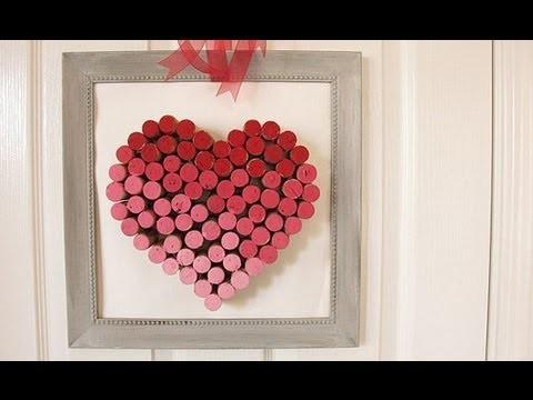 Faça Você Mesmo: Quadro de Coração com Rolhas