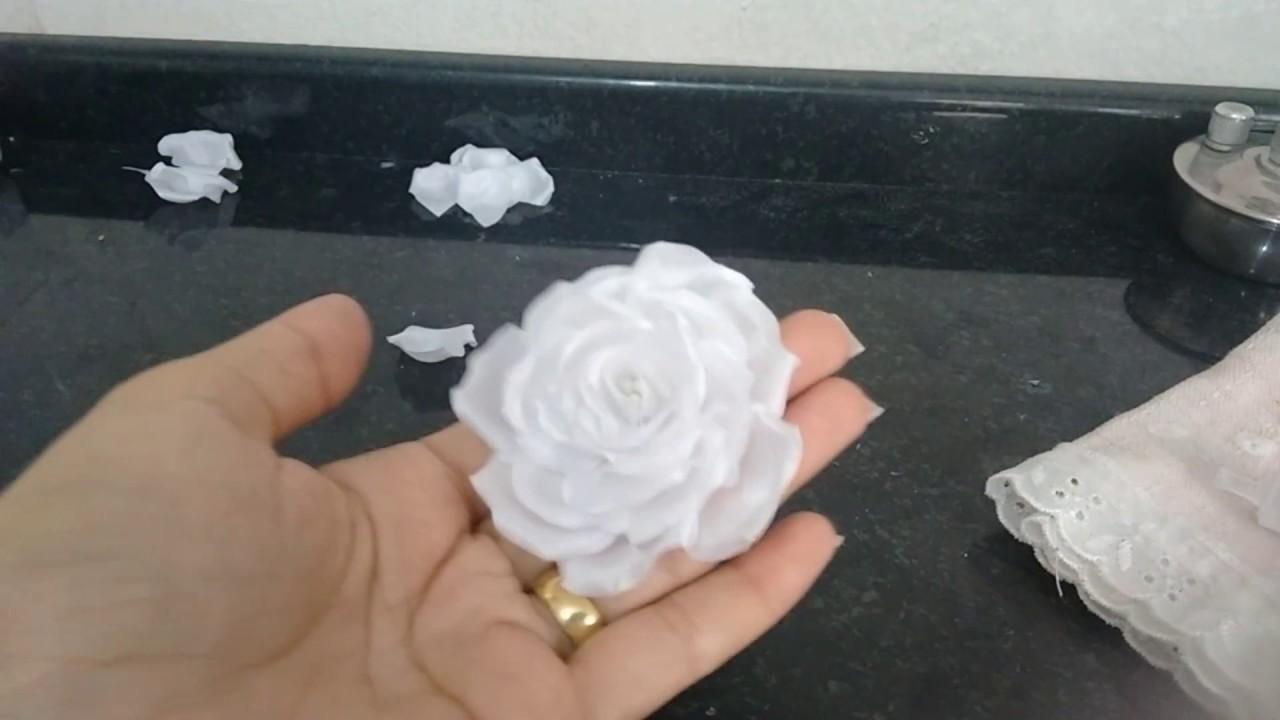 Flor engomada de noiva (parte 2)