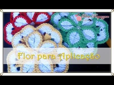 Flor para Aplicação 5 - Rose Ragazzon Croche