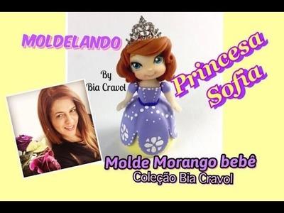 Princesa Sofia - Biscuit -Mini Topinho -MOLDElando com a Bia - DIY