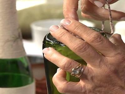 Reciclagem de garrafas com barbante - Geração de Renda IV