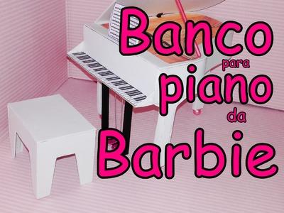 COMO FAZER BANCO DE PIANO FEITO DE EVA PARA BONECA BARBIE E MONSTER HIGH PARTE 2
