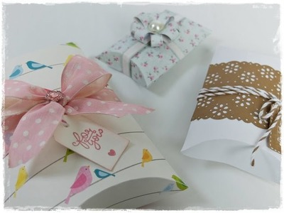Como Fazer Caixa para Presentes -  Pillow Box | DIY
