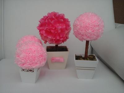 DIY: Como fazer uma topiaria de flores