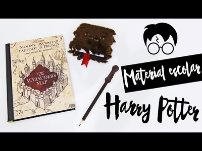 DIY: Material Escolar Harry Potter - Back to school | ft. Nina Braz (Volta às aulas)