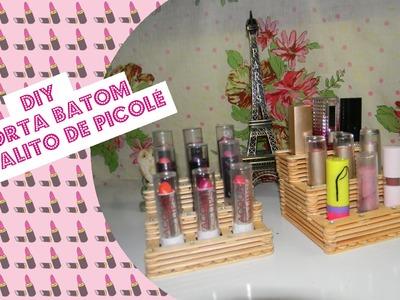 DIY -  Porta Batom de Palito de Picolé
