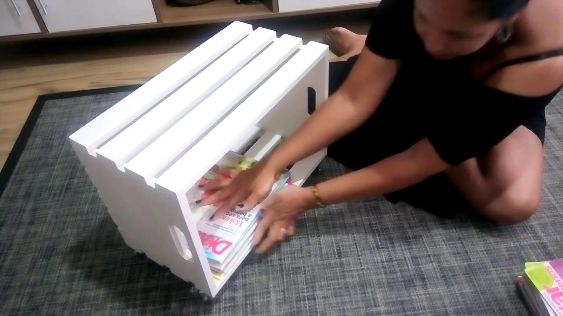Faça um porta-revista com um caixote