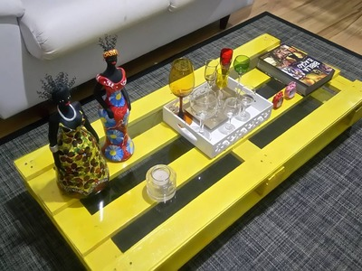 Faça você mesmo gastando pouco: mesa de centro de pallet