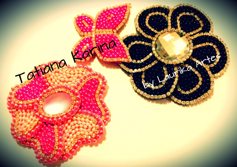 Montagem da Flor em 3 D por Tatiana Karina -Laurika Artes