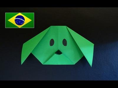 Origami Iniciante: Cabeça de Cachorro - Instruções em português