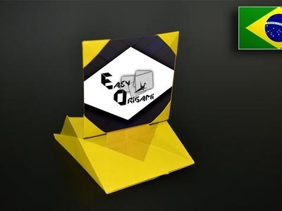 Origami: Porta-retrato - Instruções em Português BR