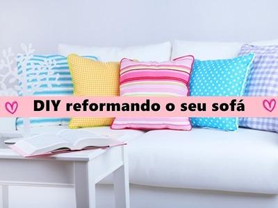 # 7 (Diario da reforma)sala, reformando seu sofá gastando apenas 80 reais.