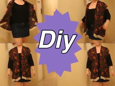 DIY Como Fazer Um Kimono De Um Vestido Longo
