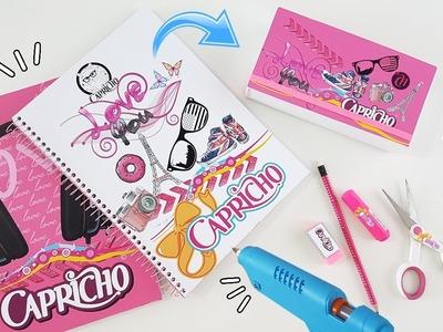 DIY | Material escolar da Capricho | Caderno e Estojo