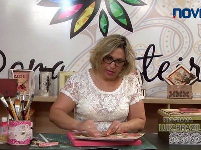 Dona Arteira com Você 25 - Caixa Dama, ScrapDecor e Renda de Biscuit sobre Esponjado