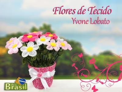 Programa Arte Brasil - 22.01.2015 - Yvone Lobato - Flores de Tecido