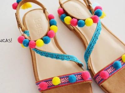 Vamos decorar umas sandálias?