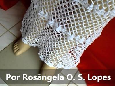 VESTIDO LONGO DE CROCHE POR ROSANGELA OLIVEIRA SOUSA LOPES