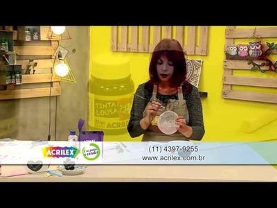 Acrilex - Artesanato - Pintura em cerâmica com Tinta Lousa