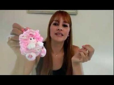 Chaveiro - Boneca de Fuxico